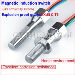 Steel Induction Canada - Corrosion resistance Stainless steel Anti vandal Explosion-proof Magnetic induction Switch,Sensing Magnet Magnetic Metal 3KGS