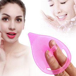 blackhead scrubs UK - Facial Cleaning Blackhead Remover Silicone Facial Face Scrub Brush Wash Pad Dirt Remover Deep Clean Blackhead