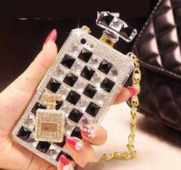perfume bottles phone case iphone 5s 2019 - For iPhone6s Perfume Bottle Diamond Mobile Phone Case Lanyard Case 5S Rhinestone Mobile Phone Case with Opp Package DHL