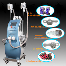 Working laser online shopping - Lipo laser freeze Body Slimming Machine IN Multifunction beauty equipment for spa ultrasound cavitation rf Two Handles Work Same Time