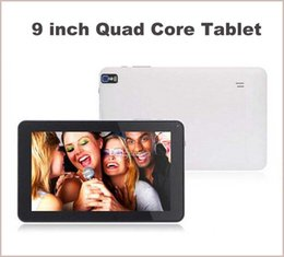 Rams Inch Tablet Canada - 9 Inch Quad Core AllWinner A33 X30 Android 4.4 KitKat 512MB RAM 8GB ROM Wifi Dual Camera Flashlight Q9 Tablet PC