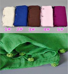 $enCountryForm.capitalKeyWord Canada - Wholesale-Wholesale plain crystal diamond ball scarf fashion cotton viscose long shawls muslim hijab wrap scarves scarf 10pcs lot