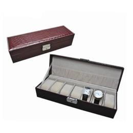 $enCountryForm.capitalKeyWord Canada - New fashion Leather Watch Case Jewelry Display Storage Box For Men women Gift