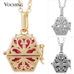 Chinese  VOCHENG Angel Bola Pendant Chain Necklace Chime Musical Necklace with Stainless Steel Chain VA-058 manufacturers