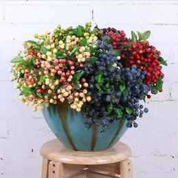 fruit bouquets NZ - Party Decoration Creative Begonia Tea Fruit Festive Supplies Artificial Berry Bouquet Home Decorative High Quality Dried Fruit Decoration