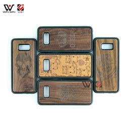 $enCountryForm.capitalKeyWord Australia - Low Price 3D Laser Pattern Real Wood Cell Phone Case Cover For Samsung S7 S8 S9 S10 S10+ Note 8 9