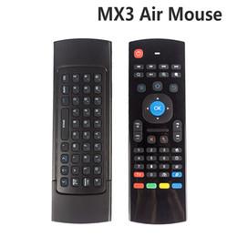 X8 воздуха летать мышь MX3 2.4 ГГц беспроводная клавиатура пульт дистанционного управления Somatosensory ИК обучения 6 оси без микрофона для Android TV Box Smart IPTV