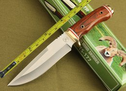 Browning Fixed Blades Canada - New TS Wood handle Fixed Blade Survival Bowie Hunting Knife TS-177