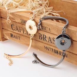 $enCountryForm.capitalKeyWord Canada - NOOSA Chunks Gold Plated Bracelet Simple Design DIY 18mm Ginger Snap Button Bracelet Interchangable Snap Button Charm Cuff Jewelry