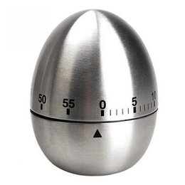 Wholesale Mechanical Timer Stainless Steel Egg Shape Timers For Home Kitchen Minutes Alarm Countdown Tool High Quality my C R