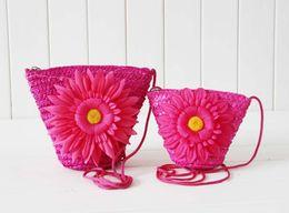 christmas crochet gifts 2019 - Hot Fashion Cute Wheat Straw Mini Bags With Zipper Crochet Knitting Nature Plant Beach Bags Candy Retro Handbags Women C