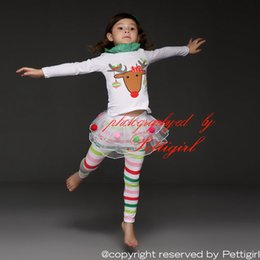 Wholesale Pettigirl Retail Children Clothing Suits Hot Sale Animail Pattern Up Legging Baby Girls Sets for Girls Clothing CS31122