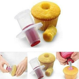 cupcake divider Australia - New Eco-Friendly Cake Tools Cupcake Plunger corer Cutter Creative DIY Cake Corer Decorating Divider Free Shipping