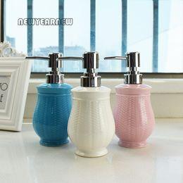 2018 Hotel Bathroom Accessories Wholesale  NEWYEARYEAR 280ML Ceramic Hand  Washing Liquid Bottle Bottling Hotel Soap