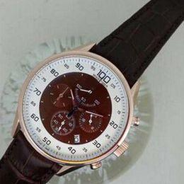 $enCountryForm.capitalKeyWord NZ - Luxury Swiss Brands Rose Gold Tags Calibre Mikrograph Watches Mens Sports Quartz Chronograph Genuine Leather Men Watch Original Box Papers