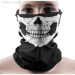 Chinese  Wholesale-2015 New Skull Half Face Bandana Skeleton Ski Motorcycle Biker Paintball Mask Scarf Unisex Black Wholesale Hot Sale manufacturers