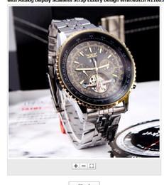 Jaragar fashion luxury watches online shopping - 2015 fashion Jaragar Automatic Self winding Mechanical Wris Watches Men with Analog Display Stainless Strap Luxury Design Wristwatch