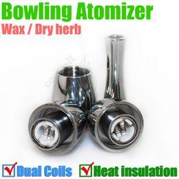 $enCountryForm.capitalKeyWord Canada - Best Bowling Atomizer rebuildable Vase cannon heat insulation tank double Dual coil Vape Herbal vapor wax Dry Herb vaporizer pen e cigatette