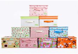 $enCountryForm.capitalKeyWord NZ - Free Shipping Non-woven Folding Storage Box of Underwear and Socks, Colorful Storage Box four size ten style ,Clothing Organizer