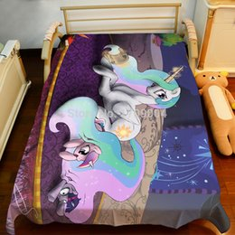 Discount Little Pony Bedding Wholesale Free Shipping Anime My Little Pony  Bed Sheet 150*