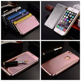 ... Metallic Hard PC +Leather Wallet Case For Iphone 6 6S 4.7 Plus 5 5S Clear Rose Gold Plating Fashion Flip Pouch inexpensive clear red plastic plates & Discount Clear Red Plastic Plates | 2018 Clear Red Plastic Plates on ...