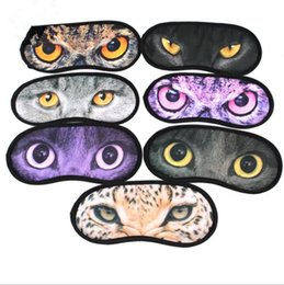 Barato Olhos Bonitos Do Remendo Do Sono-2000pcs Cartoon meow star eyeshade 3D Viagem sono máscara de olho bonito animal gato descanso descanso de descanso Mascara de olho Shade Nap Cover Blindfold Shade