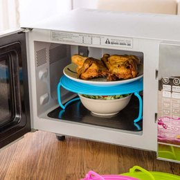 Discount plastic insert stand - 4 in 1 microwave plastic stand, it's a tray, plastic stacker a lid and a cooling rack
