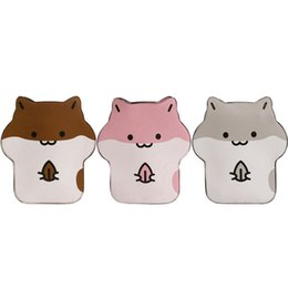 cartoon shape women bags Australia - Mini Hamster Shape Bag Lovely Women PU Leather Mini Shoulder Crossbody Bag Cellphone Pouch Purse Handbag
