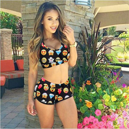 457f1d9cffb S-XL women sports shorts swimsuit Sexy 2015 2 Piece swimsuit Strapless Cute  smiley face Women Swimsuit Beach wear Bathing Suit FG1510