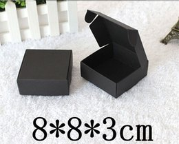 $enCountryForm.capitalKeyWord Canada - 200pcs Retail Black Gift Package Boxes Craft Gift Box Handmade Soap Packaging Kraft Paper Boxes Free Shipping