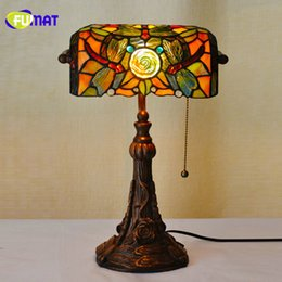 fumat tiffany stained glass table lamps luxury dragonfly glass shade lightings living room bedside lampe decor table lights dragonfly stained glass lamp for