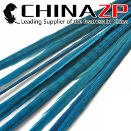 Led Costumes NZ - Leading Supplier CHINAZP Crafts Factory 50pcs lot 50~55cm(20~22inch) Length Cheap Wholesale Dyed Turquoise Ringneck Pheasant Tail Feathers