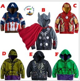 Discount avengers clothes kids - 2016 Boys the Avengers Kids Jackets & Coats Children's Outerwear & Coats Super Hero Captain America Jackets Childre