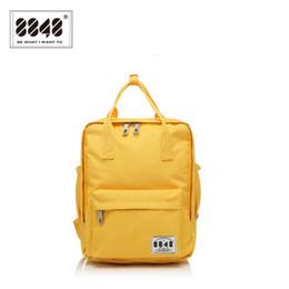 629a23d062 8848 Brand 100 %Polyester Yellow School Bag Backpacks For Teenage Girls  Small Knapsack Mochila Escolar Lona Infantil S15008 -2