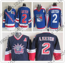 Jersey Alternate Canada - 2 BRIAN LEETCH Jersey 1996-97 Alternate lady liberty New York Rangers 1977 Vintage Jersey,75 anniversary ccm Ice Hockey Jersey