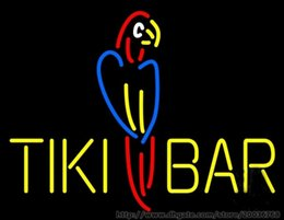 Discount parrot display - Tiki Bar Parrot Neon Sign Commercial KTV Pub Home Decoration Store Display Beer Bar Custom Handmade Real Glass Tube Neon