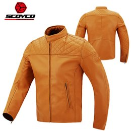 Motorbike Motorcycle Jacket NZ - 2017 Winter New SCOYCO motorcycle jacket windproof anti dropping casual motorbike suit jackets made of super fiber leather PU