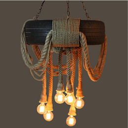 $enCountryForm.capitalKeyWord Canada - Tire rope chandelier E27 lamp Rope Pendant Lamps Indoor Lighting Vintage Dining Room Bedroom lights Restaurant lighting