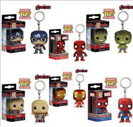 $enCountryForm.capitalKeyWord Australia - Funko POP Marvel Super Hero Hulk captain America iron man thor Spiderman colletion Figurines Toy Keychain