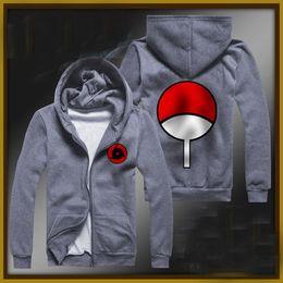 $enCountryForm.capitalKeyWord Canada - Hot sale Anime Naruto fleece Kakashi sasuke uchiha itachi long-sleeved coat spot cartoon winter zip more fleece thick hoody