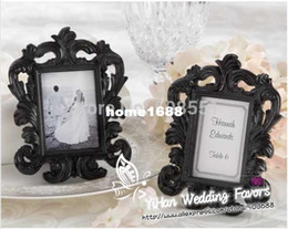 "photo place card holders UK - Rectangle ""Black Baroque"" Resin Elegant Place Card Holder Photo Frames Frame Favors For Wedding Picture"