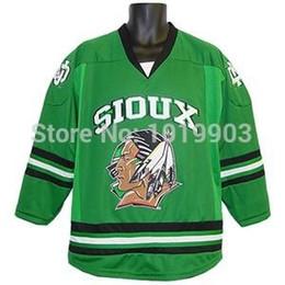 hockey sioux 2019 - University NORTH DAKOTA K1 Fighting Sioux Jerseys  Hockey Jersey Black Green - 36c564015