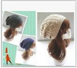 free knitted hat patterns for women NZ - Womens Fall Fashion Hats Twist Pattern Beanies Winter Gorros for Female Knitted Warm Skullies Touca Chapeu Feminino TO172