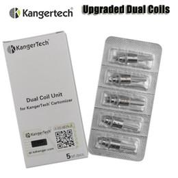 Chinese  100% Original Kanger Upgraded Dual Coils for kangertech aerotank mega mini protank 3 evod glass 2 T3D Atomizer manufacturers
