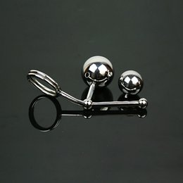 Appareil D'esclavage Anal Pas Cher-Plug Anal Butt Plugs Anal Massage Chasteté Ceinture en acier inoxydable Anal Balls Cock Rings BDSM Strap On Anal Toys Bondage Male Chastity Dispositif