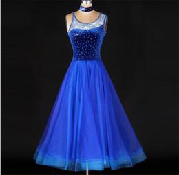 $enCountryForm.capitalKeyWord Canada - Standard Ballroom Dance 2016 Competition Dresses Rhinestone Marine Costumes For Women Blue Tango Waltz Dresses Modern Dance Dress FN037