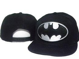 Chinese  black adjustable Batman Cartoon Marvel Hero bat man Snapback Hats men's fashion character adjustable caps for men women freeshipping DDMY manufacturers