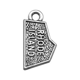 Discount diy metal stamping jewelry New fashion 30pcs Rhode Island hand stamped jewelry charms jewelry making DIY,metal charms wholesale