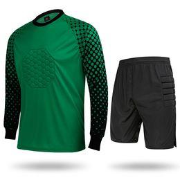Мужской свитер трикотажные изделия футбол вратарь с длинным рукавом рубашки короткие брюки спортивные взрослых футбол Джерси футбол Trainning одежда на Распродаже