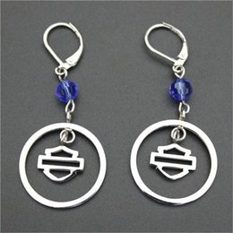 wholesale biker earrings NZ - 2pairs lot USA biker style new arrival round earrings 316l stainless steel fashion jewelry motorbiker earrings